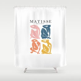 Abstract woman pastel color matisse woman artwork the cut outs Shower Curtain
