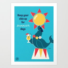 "Ministry of Optimistic Directives - ""Chin Up"" Art Print"