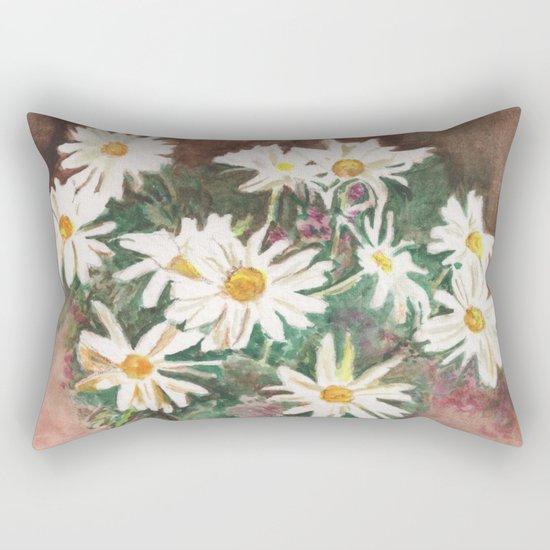 Still Life of Daisies Rectangular Pillow