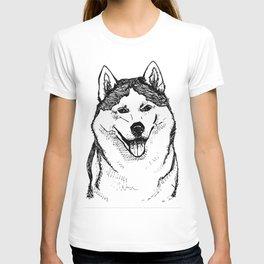 Siberian Husky Portrait T-shirt