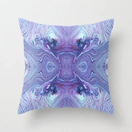 Glacier Melt and Ice Flow with Beautiful Whites, Blues and Purples by annmariescreations Throw Pillow