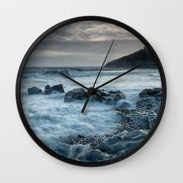 Blue hour at Bracelet Bay Wall Clock