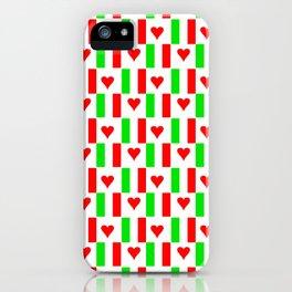 Flag of Italy with heart - Italy,Italia,Italian,Latine,Roma,venezia,venice,mediterreanean,Genoa,fire iPhone Case