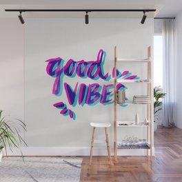 Good Vibes – Magenta & Cyan Wall Mural