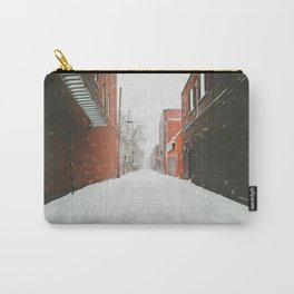 Montréal Snowstorm in alley Carry-All Pouch