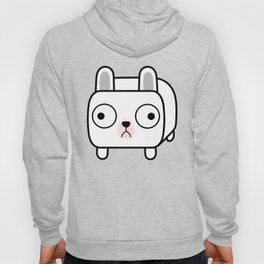 French Bulldog Loaf - White Frenchie Hoody