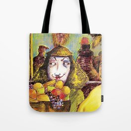 Fruit Hats and Feathers Tote Bag
