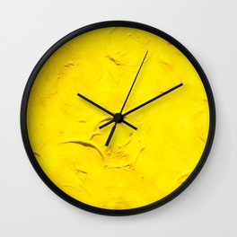 Yellow  Ripples Wall Clock