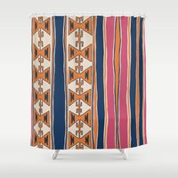 cleveland Shower Curtains featuring Cleveland 3 by Little Brave Heart Shop