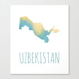 Uzbekistan Canvas Print