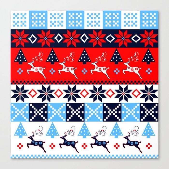 Scandinavian holidays pattern design Canvas Print
