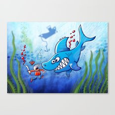 Sharks are Furious, Stop Finning! Canvas Print