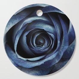Blue Rose Bloom Decorative Cutting Board