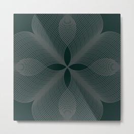 Green Velour Metal Print