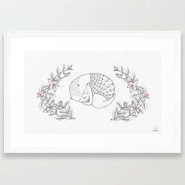 flower cat Framed Art Print