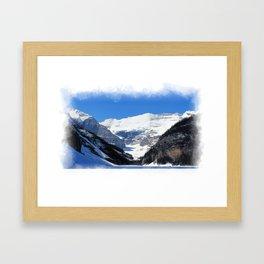 Lake Louise in Banff National Park Framed Art Print