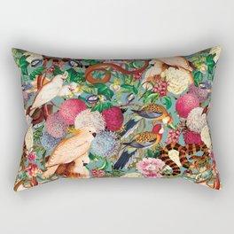 Floral and Animals pattern Rectangular Pillow