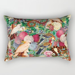 Floral and Animals pattern Rectangular Pillow