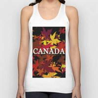 canada Tank Tops featuring Canada by megghan18