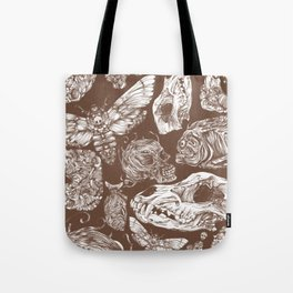 Bones in Brown Tote Bag