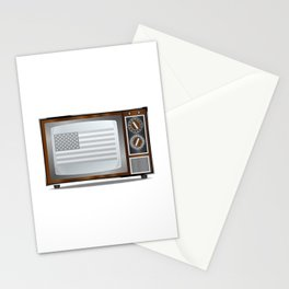 Patriotic Black And White Television Stationery Cards