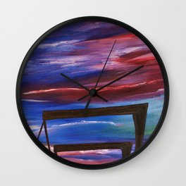 HARLAND AND WOLFF CRANES SILHOUETTE Wall Clock