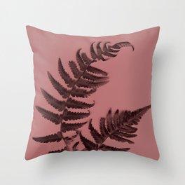 Fern on marsala Throw Pillow