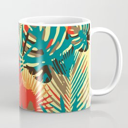 Abstract Exotique Leaves Coffee Mug