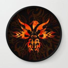 Fire Phoenix Bird Wall Clock
