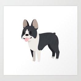 Happy Boston Terrier Art Print