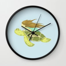 The Girl and the Turtle Wall Clock