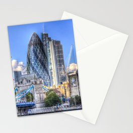 The Gherkin and Tower bridge Stationery Cards