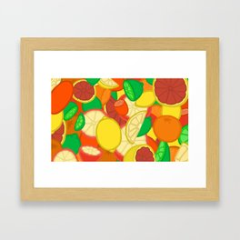 Cute Fruits! Framed Art Print