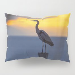 Blue Heron at Sunrise Pillow Sham