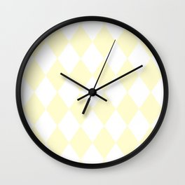 Diamonds (Cream/White) Wall Clock