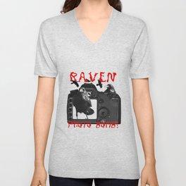 Raven Photo Bomb! Unisex V-Neck