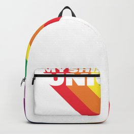 Vintage Retro 70s 80s Style Rainbow My Shimmering Unicorn Backpack
