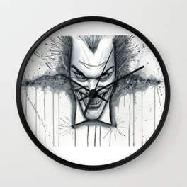 Crazy - Ode to The Joker Wall Clock