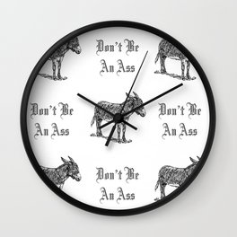 Don't Be an Ass Wall Clock