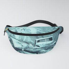 cars and butterflies in moonlight Fanny Pack