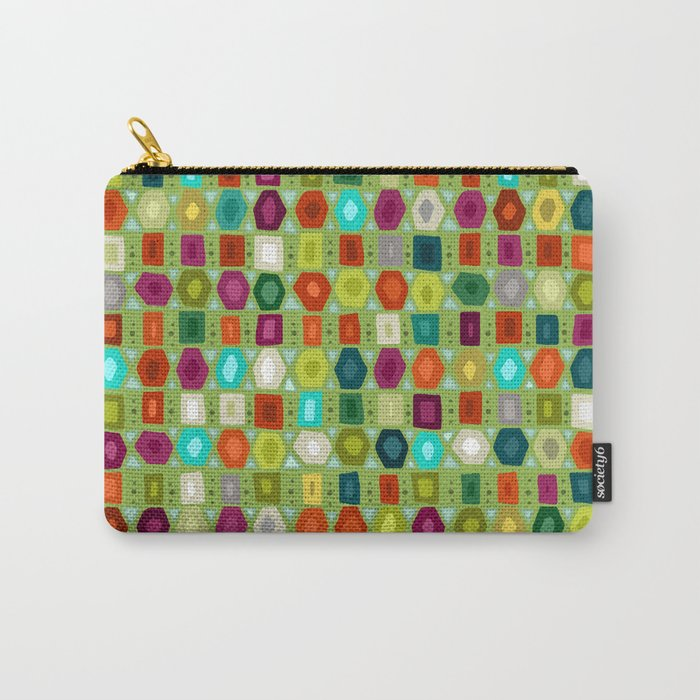 hex strip green Carry-All Pouch