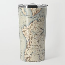 Vintage Map of The Puget Sound (1934) Travel Mug