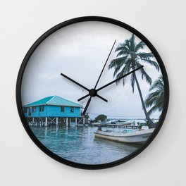 Island Retreat Wall Clock