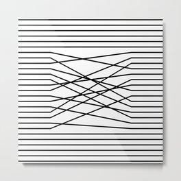 Line Complex Light Square Metal Print