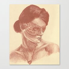 Masked Woman Canvas Print
