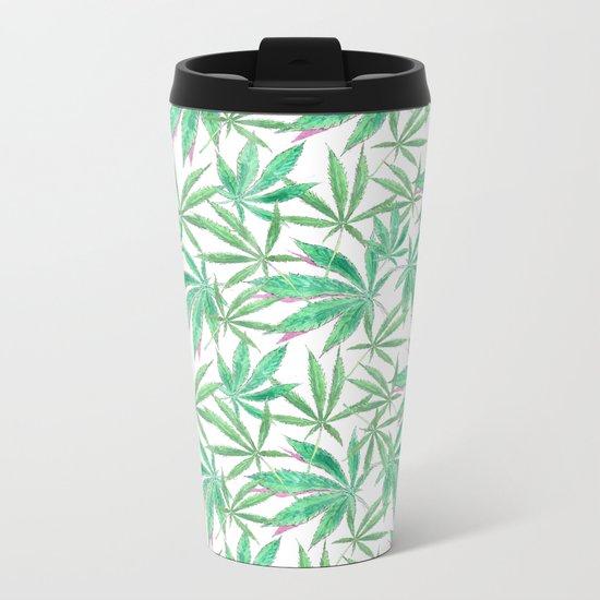420 Leaves Metal Travel Mug