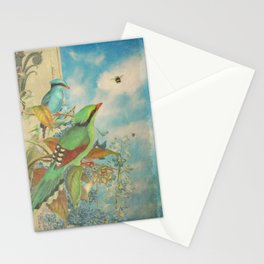 Birds and Bees Stationery Cards