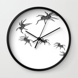 Wolf Spiders Wall Clock