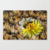 bees Canvas Prints featuring Bees by Moody Muse