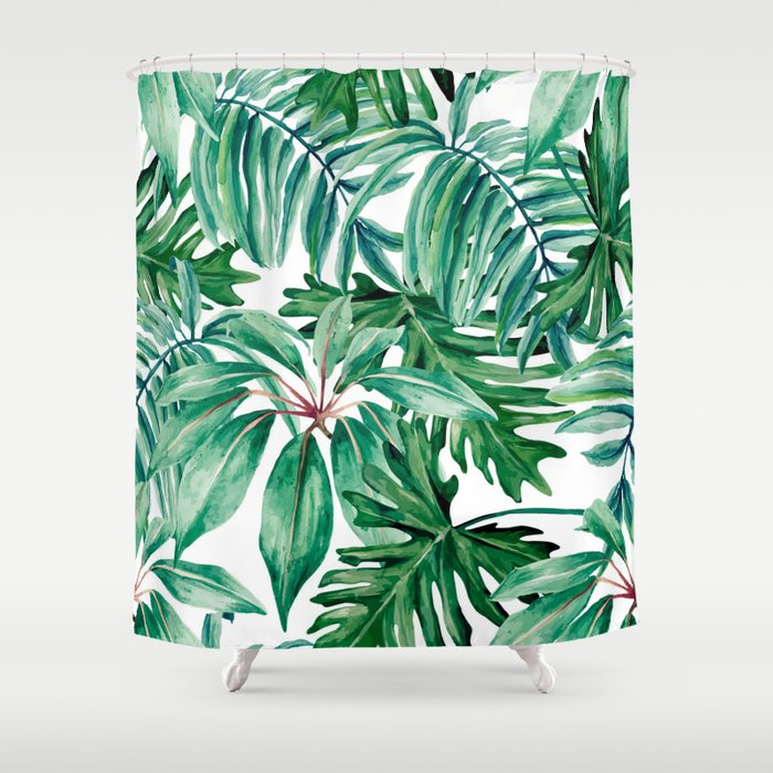 Tropical jungle Shower Curtain by galeswitzer | Society6